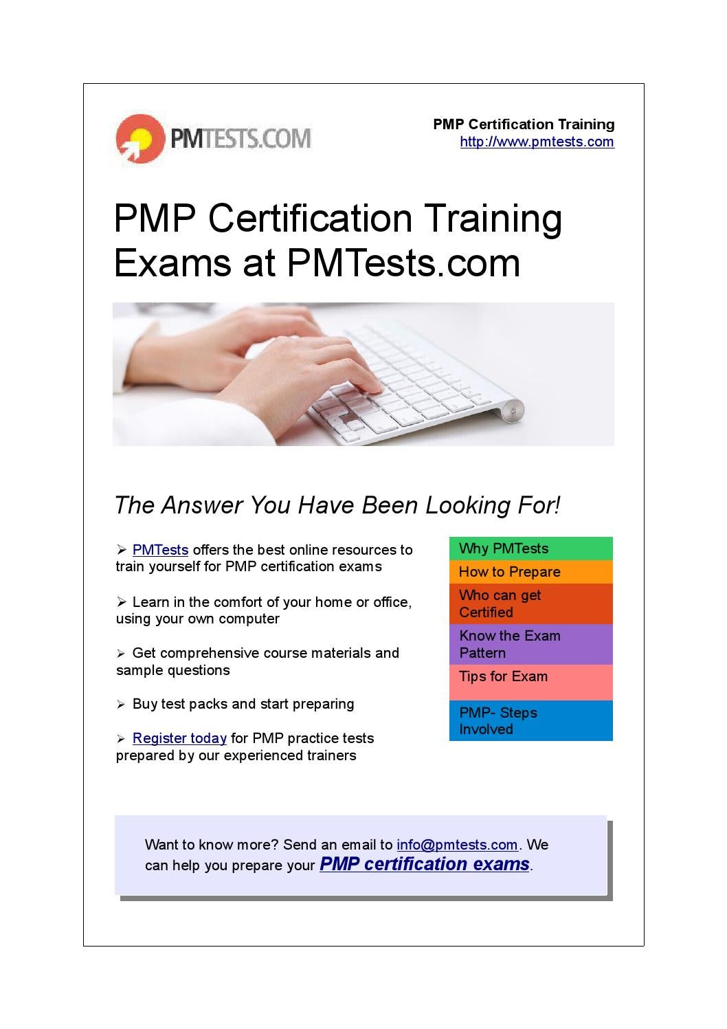 Pmp Certification Training Exams At Pmtests By Pmtests Issuu