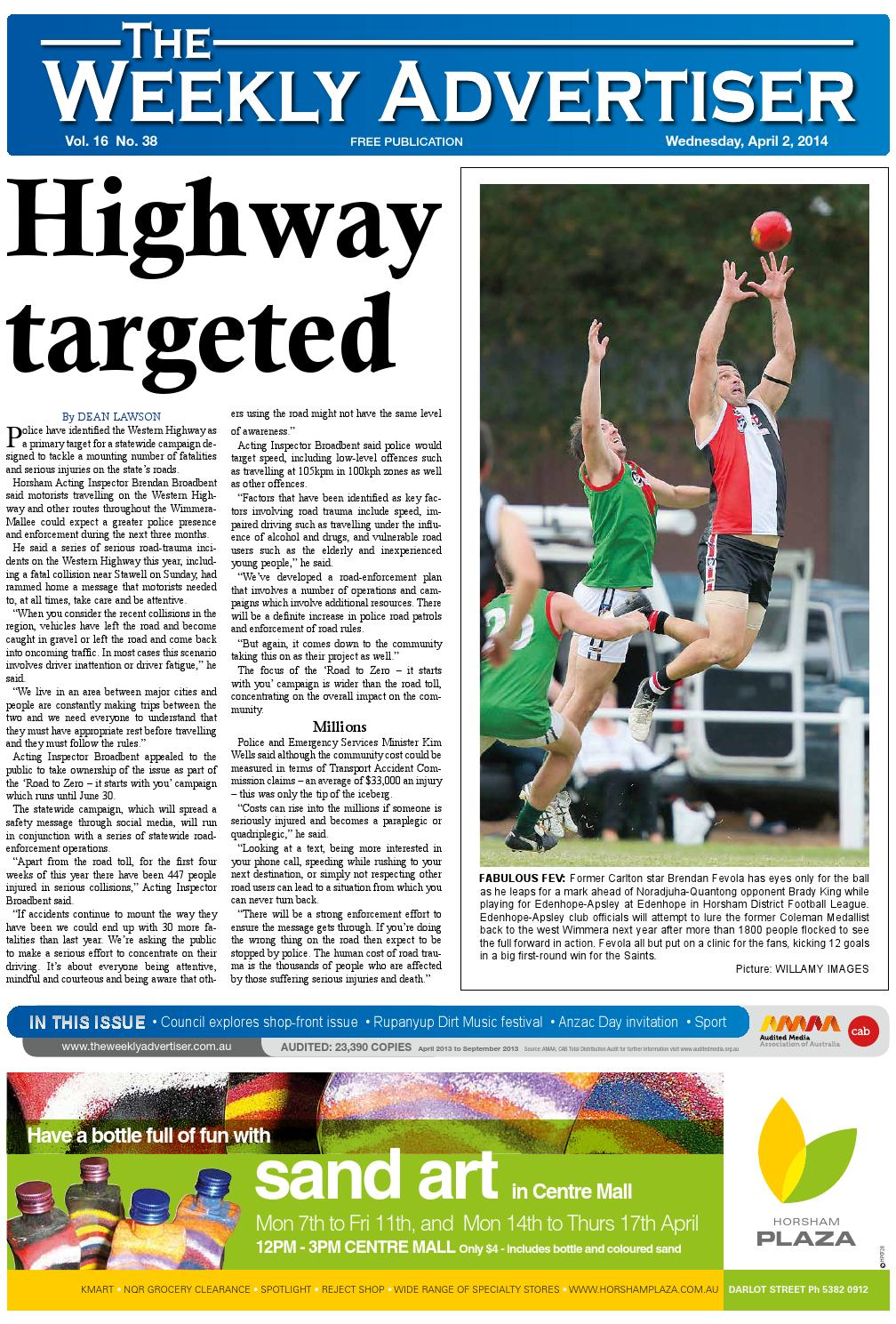 70a0968e The Weekly Advertiser - Wednesday, April 2, 2014 by The Weekly Advertiser -  issuu