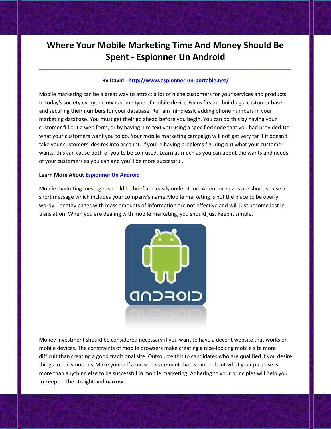 espionner un portable non android