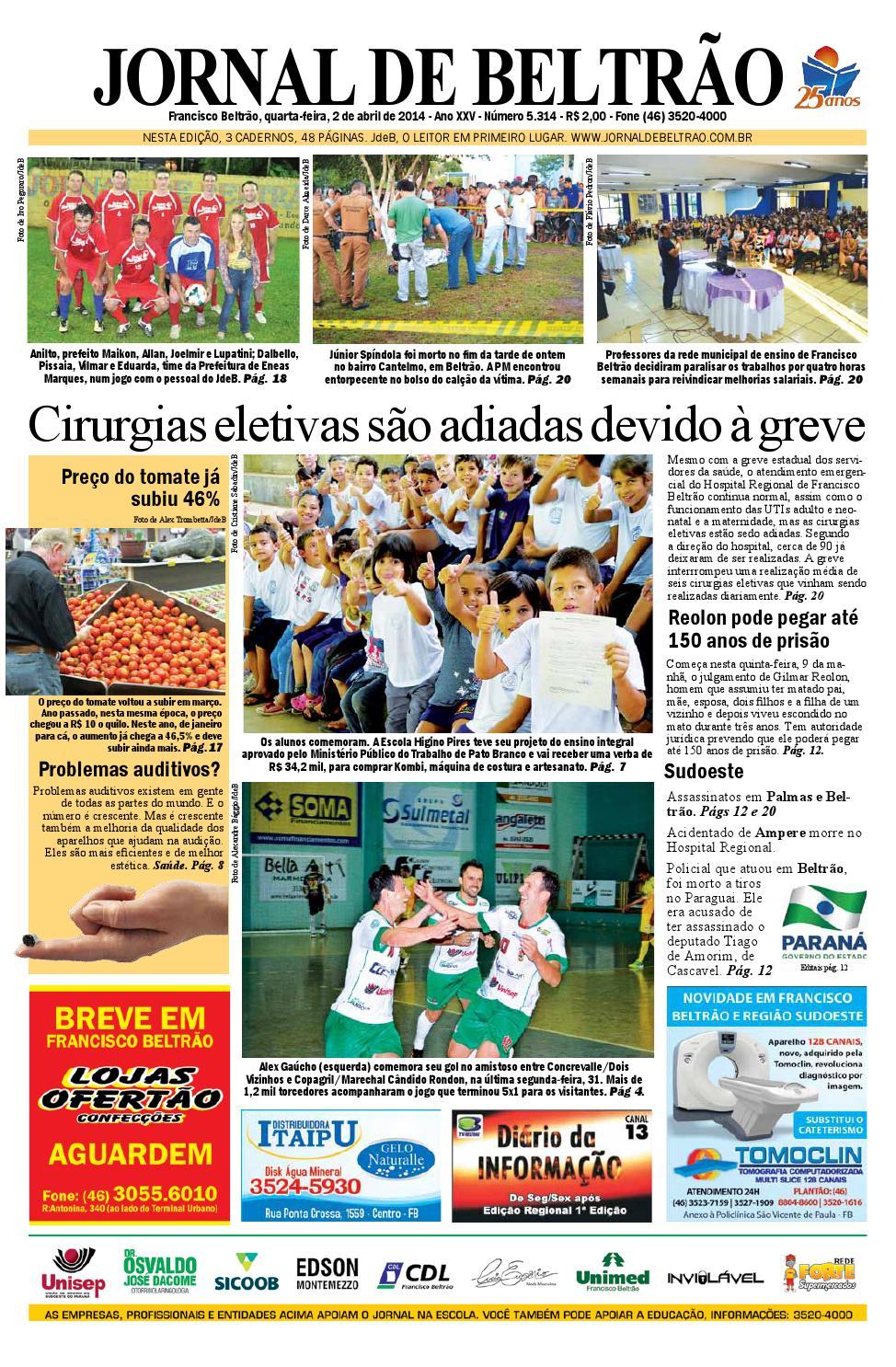 e974a552a6 jornaldebeltrão 5314 2014-02-04.pdf by Orangotoe - issuu