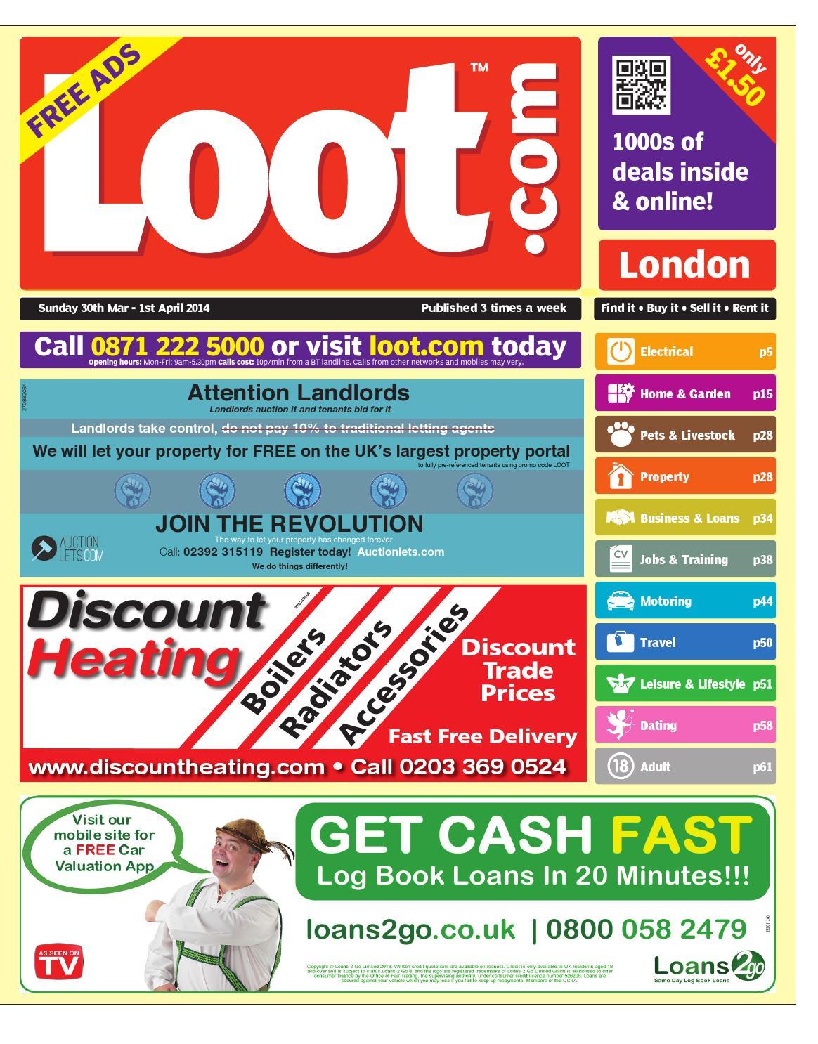 9feb426ef70 Loot London, 30th March 2014 by Loot - issuu