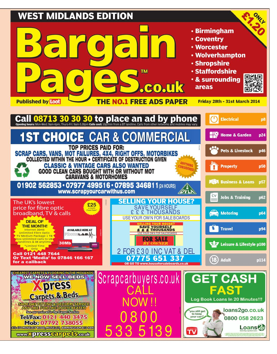 Bargain Pages West Midlands 28th March 2014 By Loot Issuu Mitsubishi 1994 Pajero 28td Fuse Box Diagram