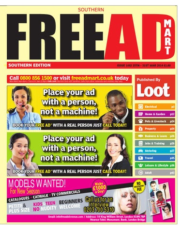 Free ad mart southern edition 25th march 2014 by loot issuu page 1 fandeluxe Gallery