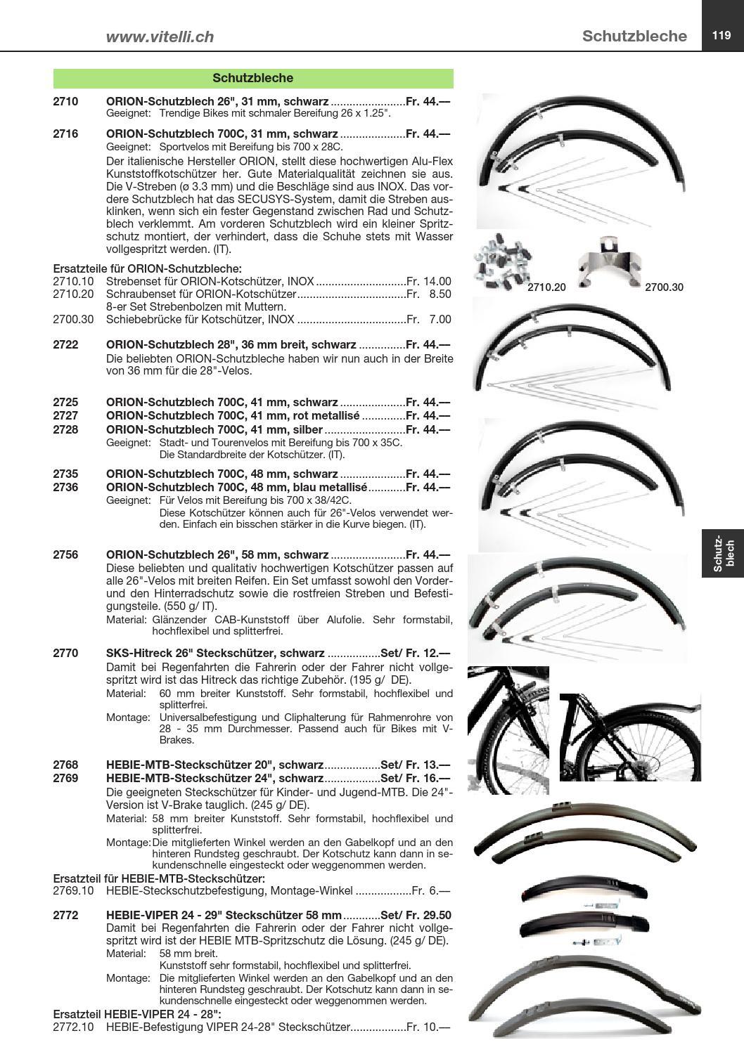 """Schutzblech Set Orion  28/"""" x 41mm  Silber Schutzbleche"""