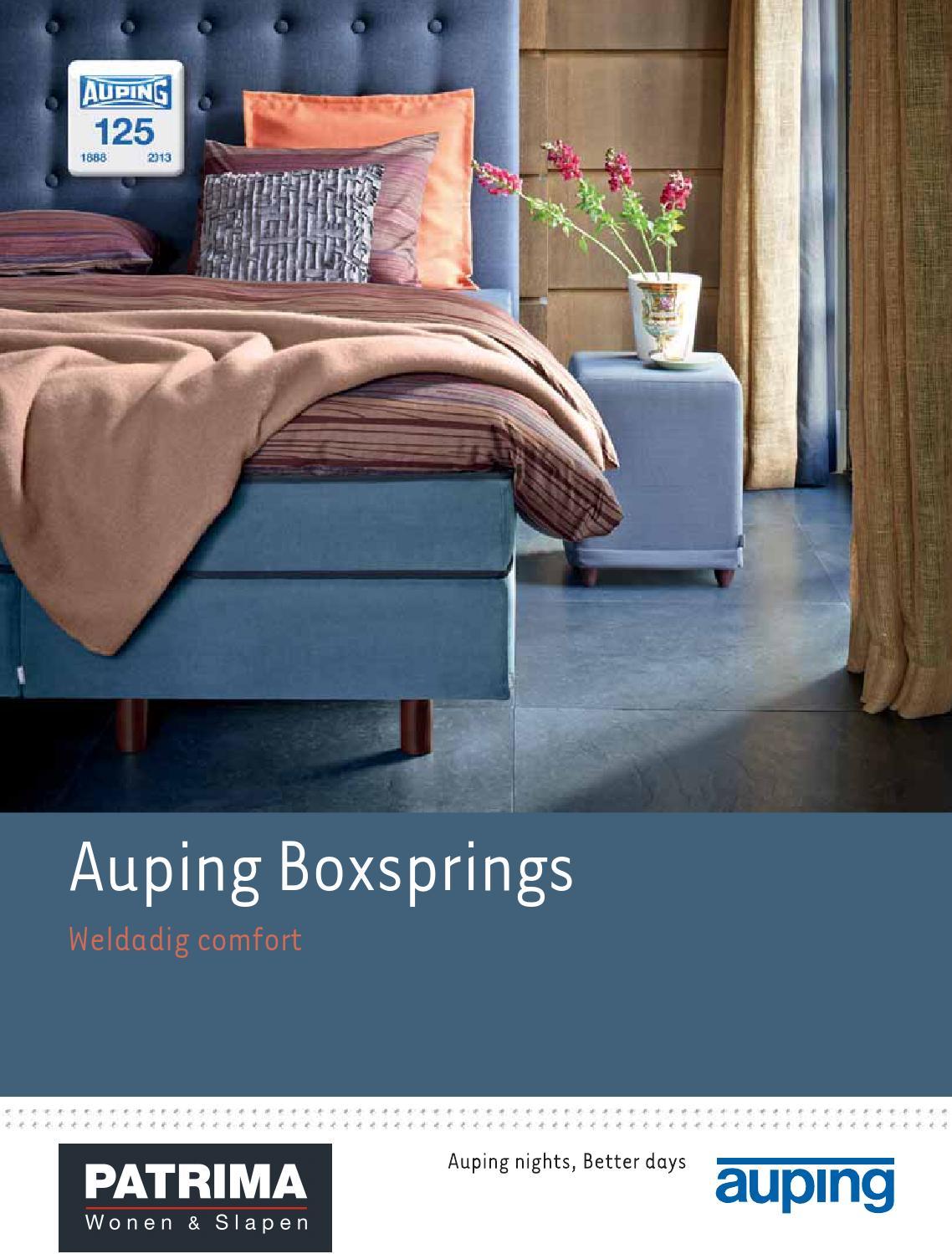 Auping Boxspring Boxton.Auping Boxsprings By Patrima Wonen Slapen Issuu