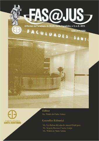Fasjus volume 3 n 2 2013 by faculdades santo agostinho issuu fasjus e revista da faculdade de direito santo agostinho v 3 n 22013 fandeluxe Gallery