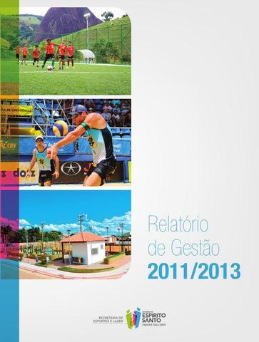 c41a061ce Relatório de Gestão 2011 2013 - Sesport by Fred Colnago - issuu