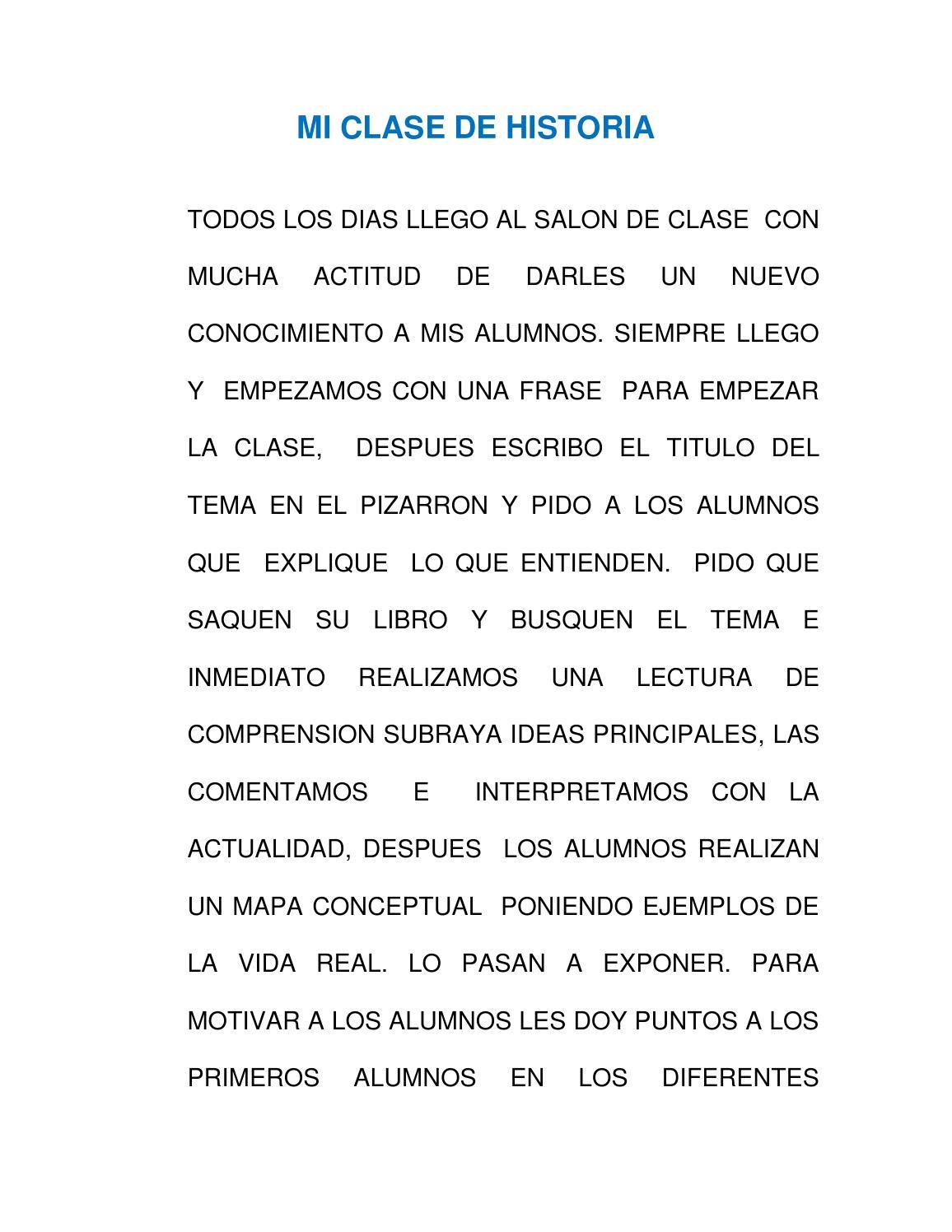 Mi Clase De Historia 1 By Margarita Mejia Issuu