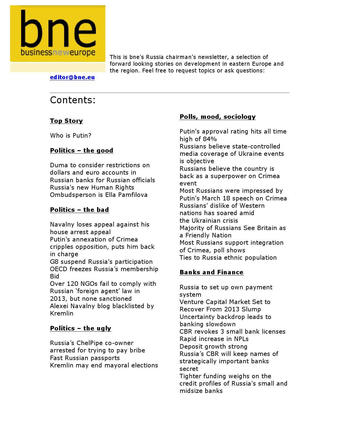 Bne Chairman List 010414 By Ben Aris Issuu