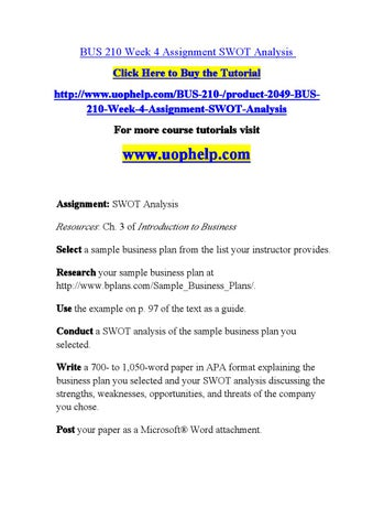 how to write a swot analysis paper in apa format