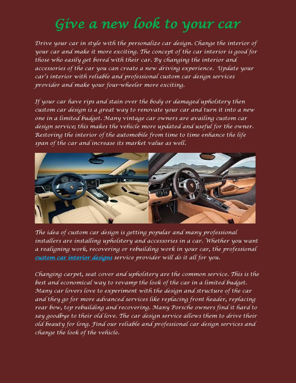 Custom Car Interior Designs By Jason Miller Issuu