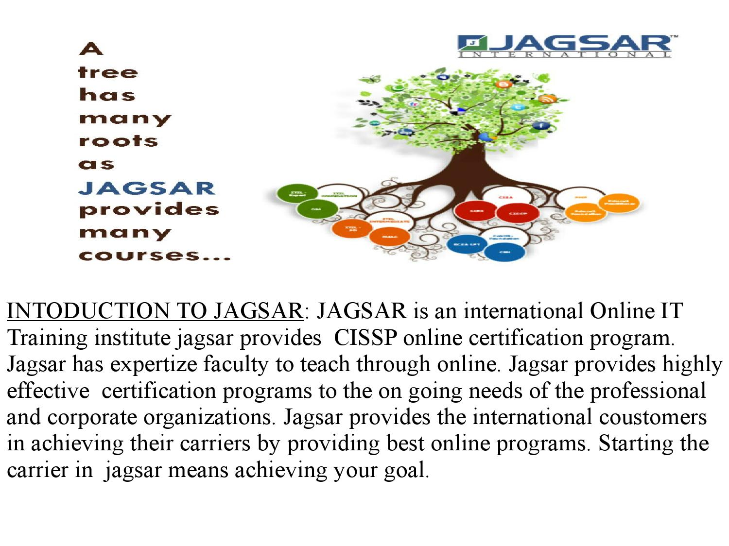 Jagsar cissp online it training at hyd by jagsar issuu xflitez Images