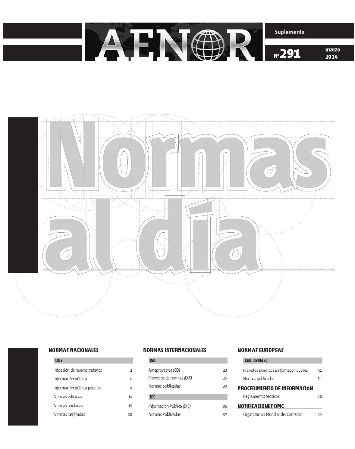 Normas al día nº 291 by Revista AENOR - issuu on