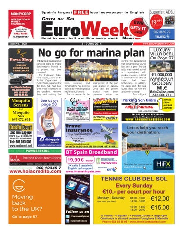 85a313721f Euro Weekly News - Costa del Sol 3 - 9 April 2014 Issue 1500 by Euro ...