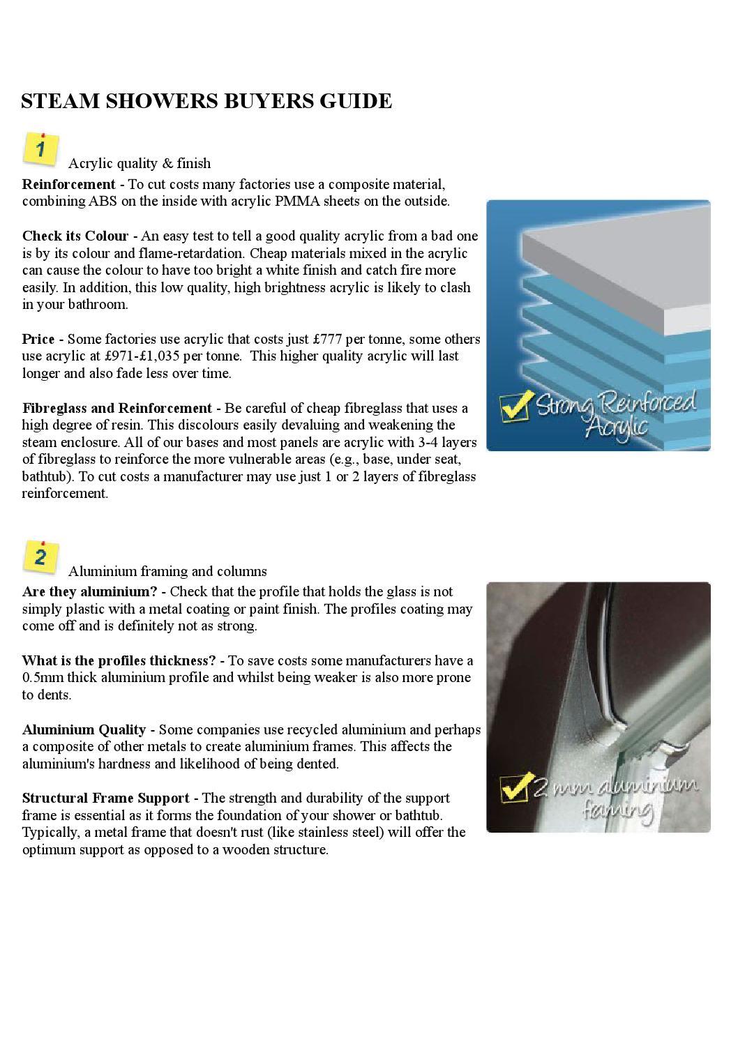 Steam shower buying guide by steam shower - issuu