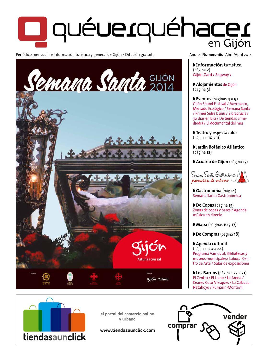Qué ver qué hacer en Gijon abril 2014 by uve comunicacion