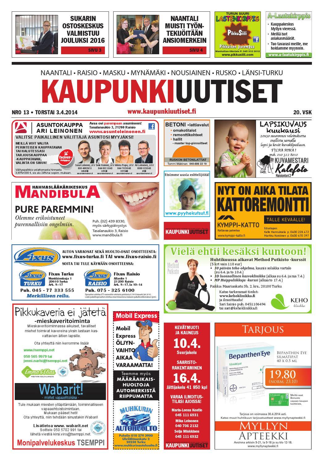 Kaupunkiuutiset 03.04.2014 by Kaupunkiuutiset - issuu cd5c63b8f7