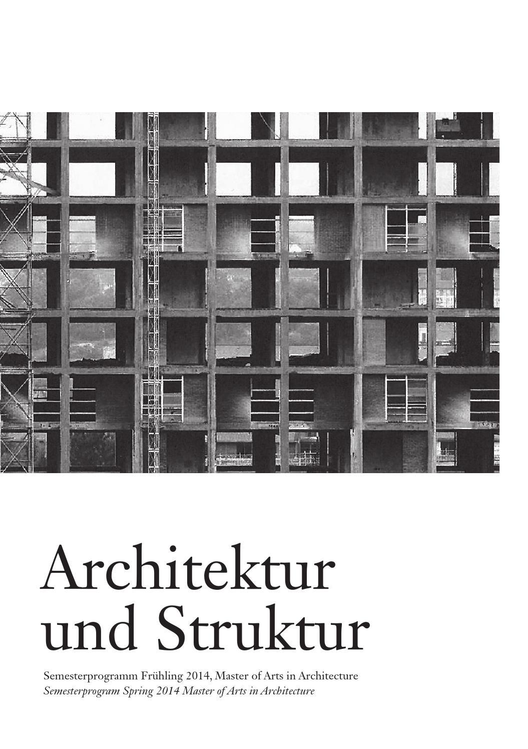 Architekur und struktur by master architektur issuu for Master in architektur
