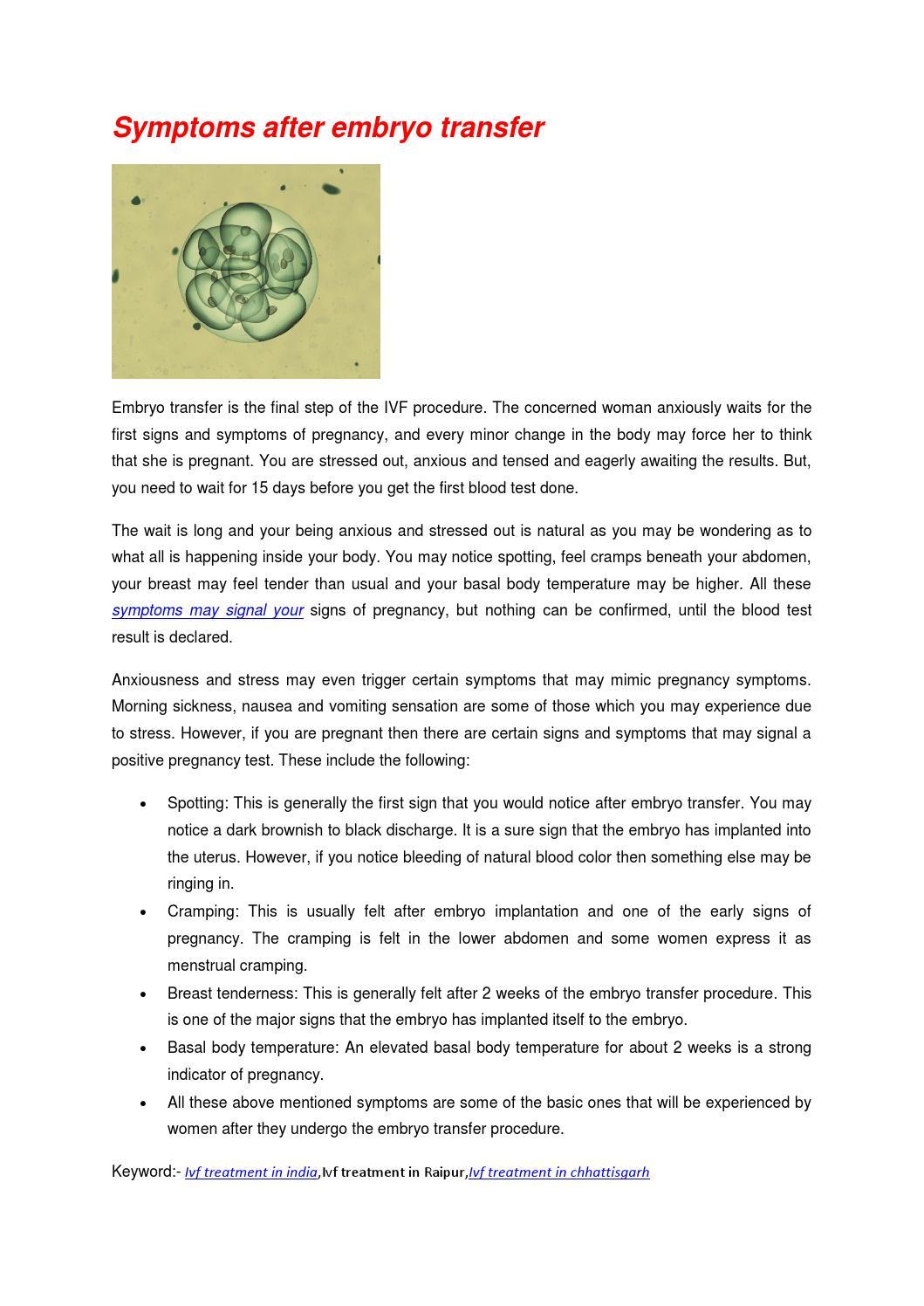 Symptoms after embryo transfer by Amisha - issuu