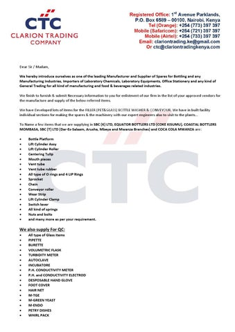 trading company cover letter Business letter of introduction: there are two kinds of business introduction letter, introducing a person or company and introducing a product, equipment or service in this article, i will: cover the two different types of introduction letter.
