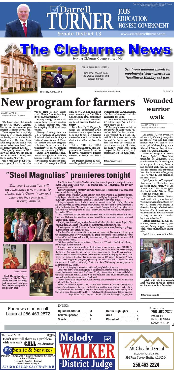 The Cleburne News - 04/03/14 by Consolidated Publishing Co. - issuu