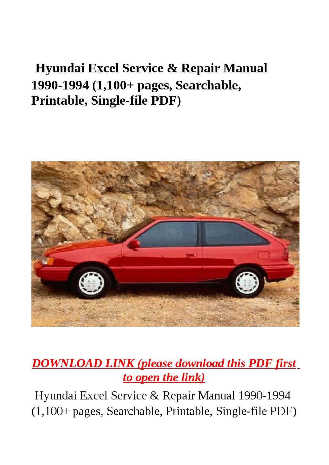 1993 Hyundai Excel Owners Manua Manual Guide
