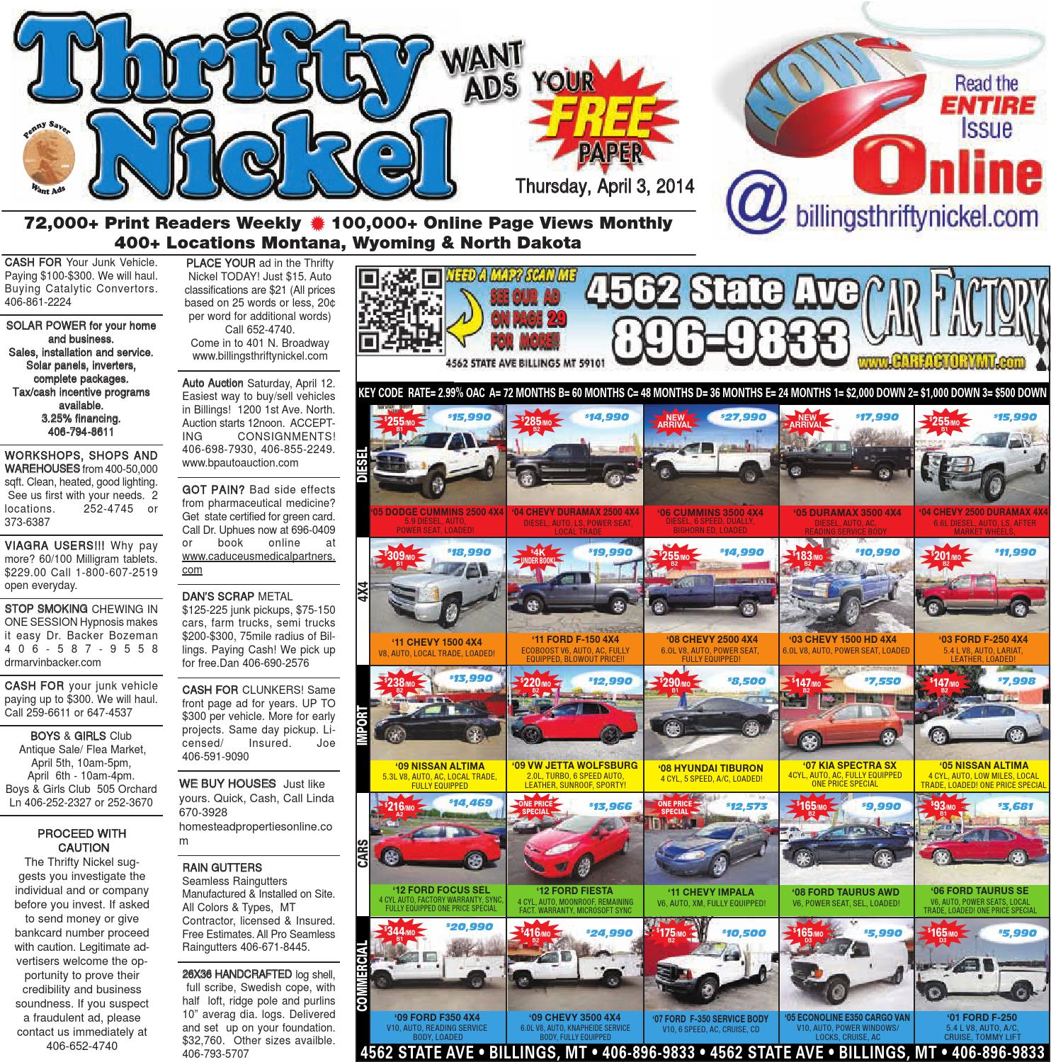 Thrifty Nickel Apr 3 By Billings Gazette Issuu Curt 4way Round To Flat Trailer Wire Adapter Sharptruckcom