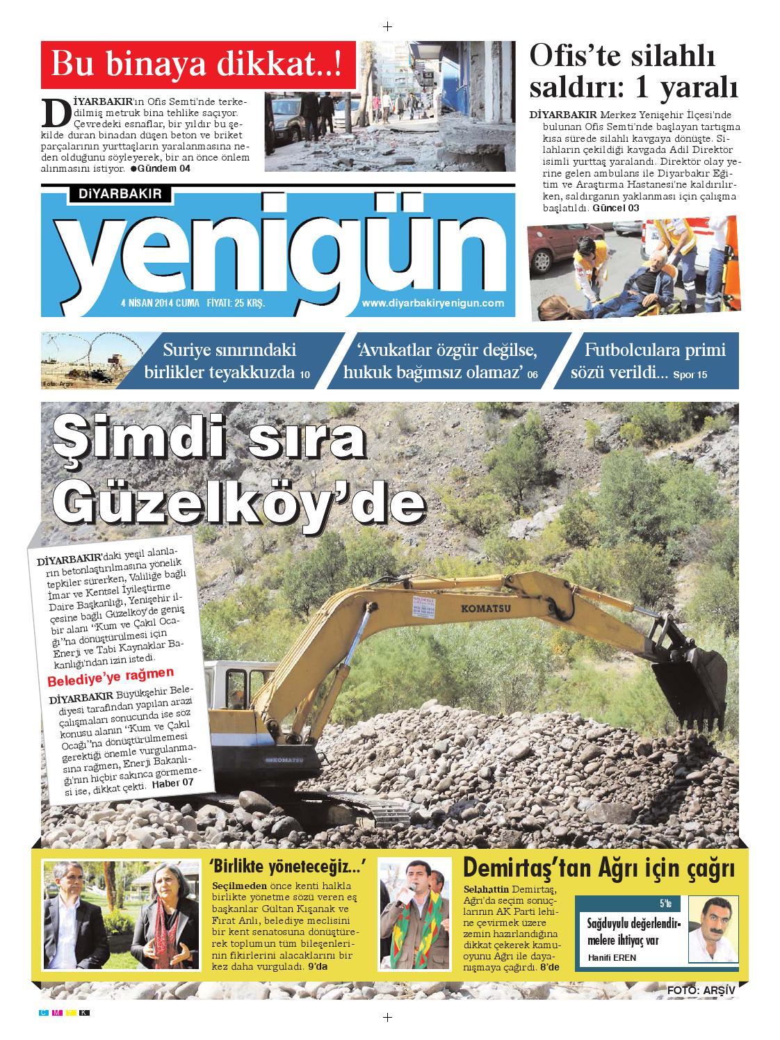 Diyarbakir Yenigun Gazetesi 4 Nisan 2014 By Osman Ergun Issuu