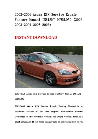 rsx manual download