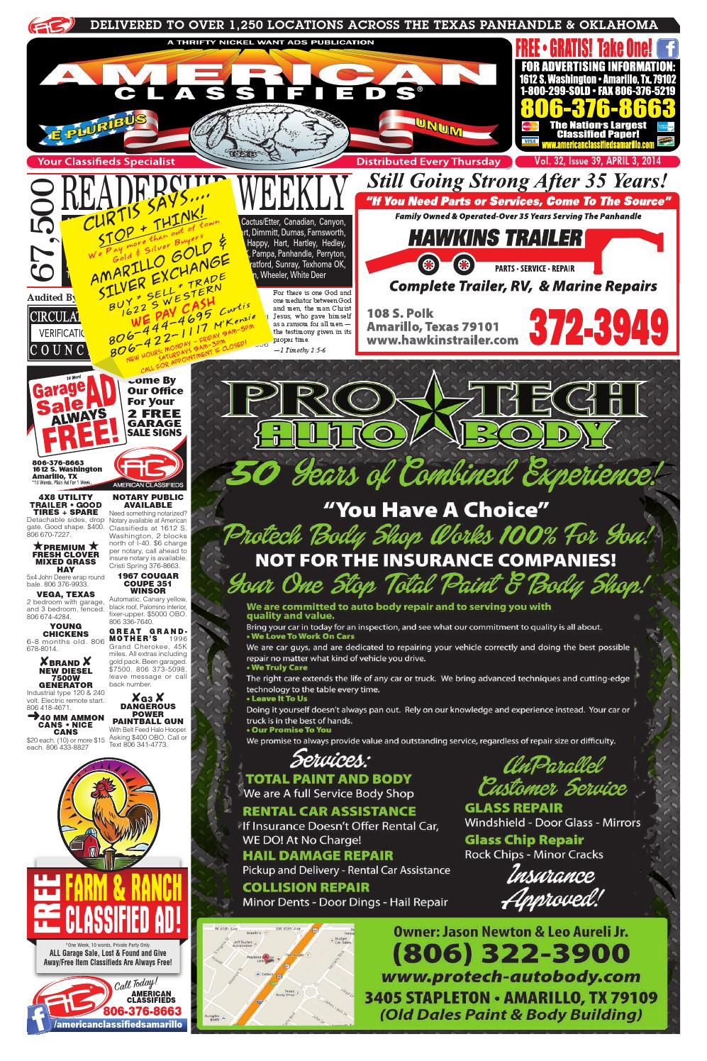 American Classifieds | Amarillo, TX | April 3, 2014 by