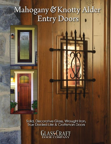 Mahogany Knotty Alder Entry Door Catalog By Glasscraft Issuu