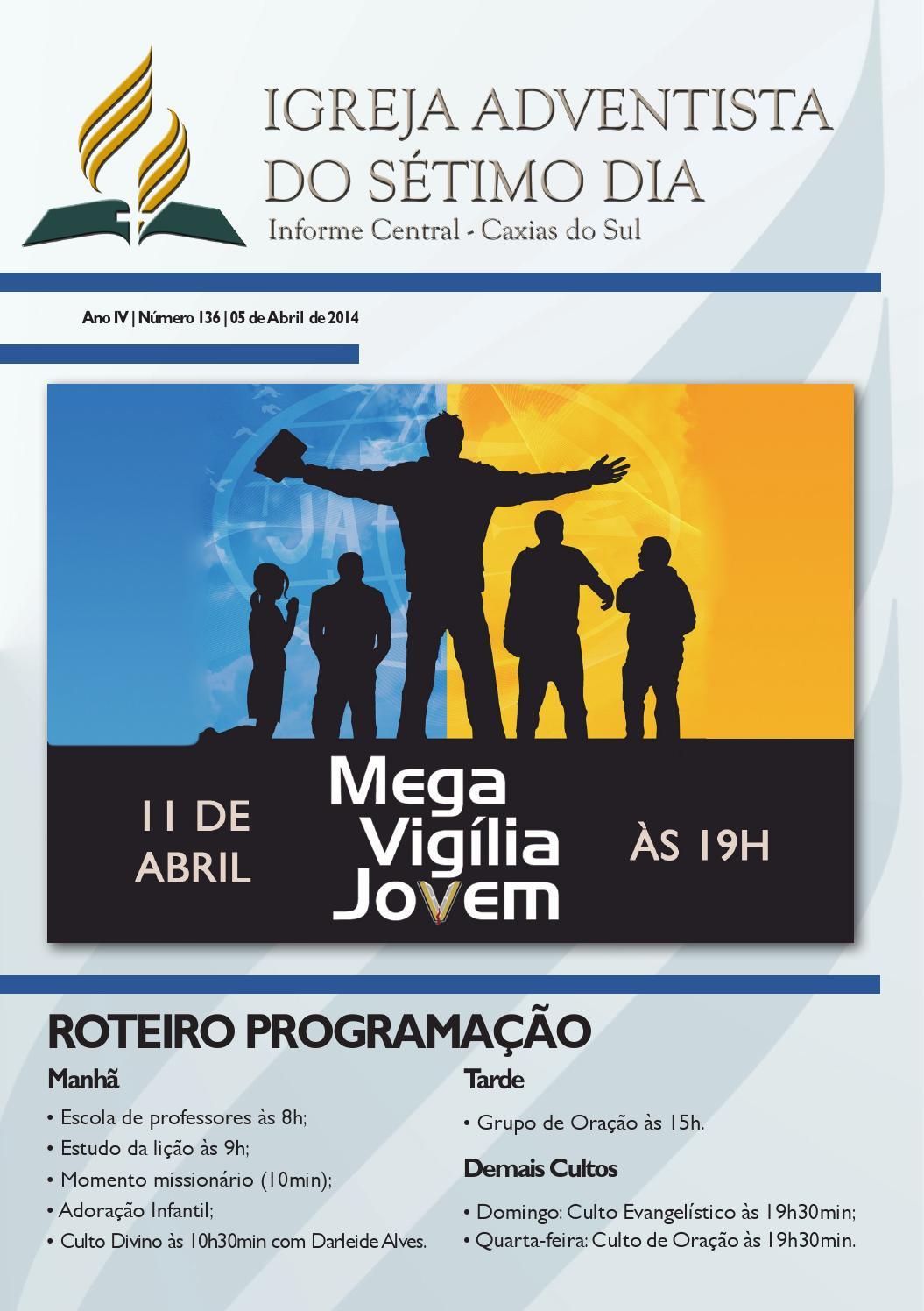 Informativo iasd 05 04 2014 by Igreja Adventista do Sétimo