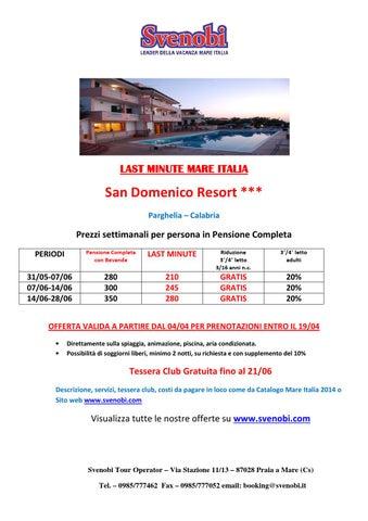 SAN DOMENICO RESORT - LAST MINUTE GIUGNO - SVENOBI TOUR OPERATOR SRL ...