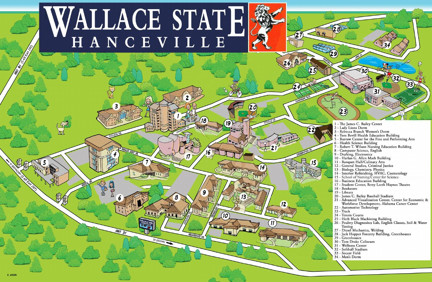 Wallace State Community College Map By Wallace State Community