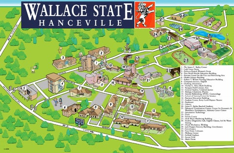 Wallace State Map 2014 By Wallace State Community College Issuu