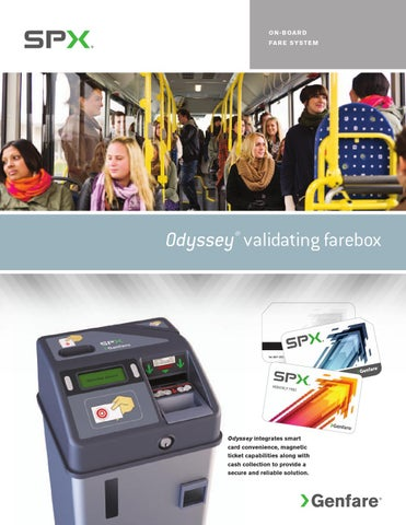 Odyssey electronic validating fare box