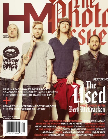 c868a1cfc The Used - THE PHOTO ISSUE - April 2014 - HM Magazine by HM Magazine ...