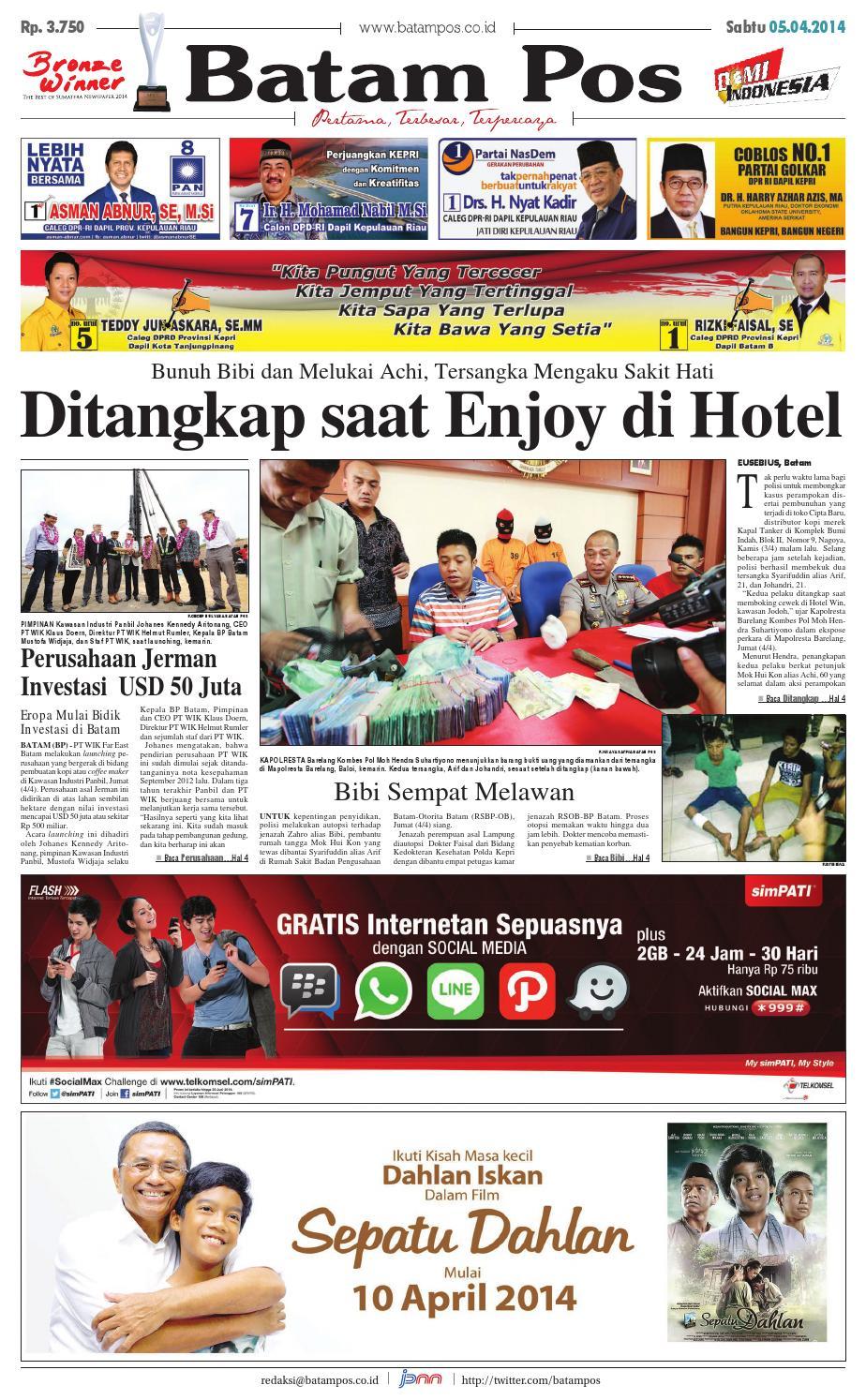 5 April 2014 By Batampos Newspaper Issuu Produk Ukm Bumn Bunge Tanjung Betabur