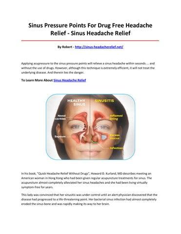 sinus pressure points for drug free headache relief - sinus headache relief