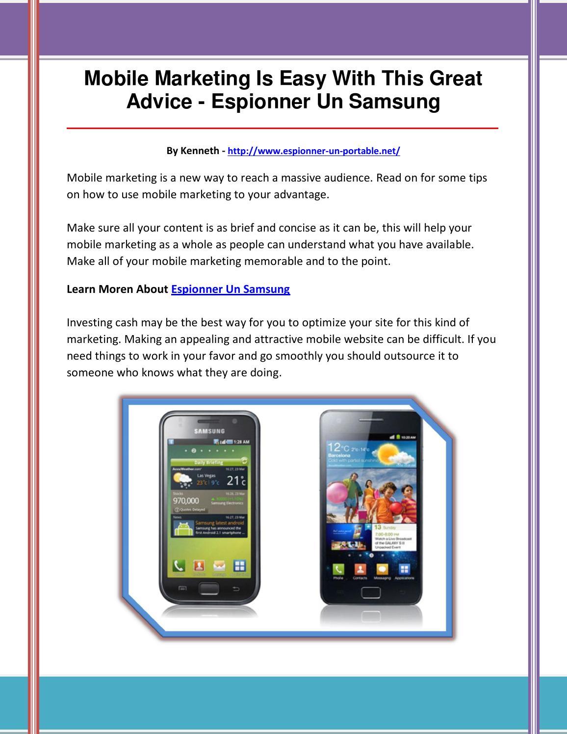 Versions de Samsung adaptées au Mspy