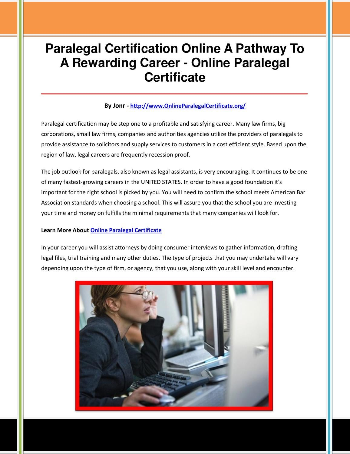 Online Paralegal Certificate By Bnmhjkloi Issuu