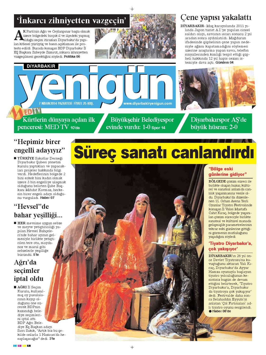 Diyarbakir Yenigun Gazetesi 7 Nisan 2014 By Osman Ergun Issuu