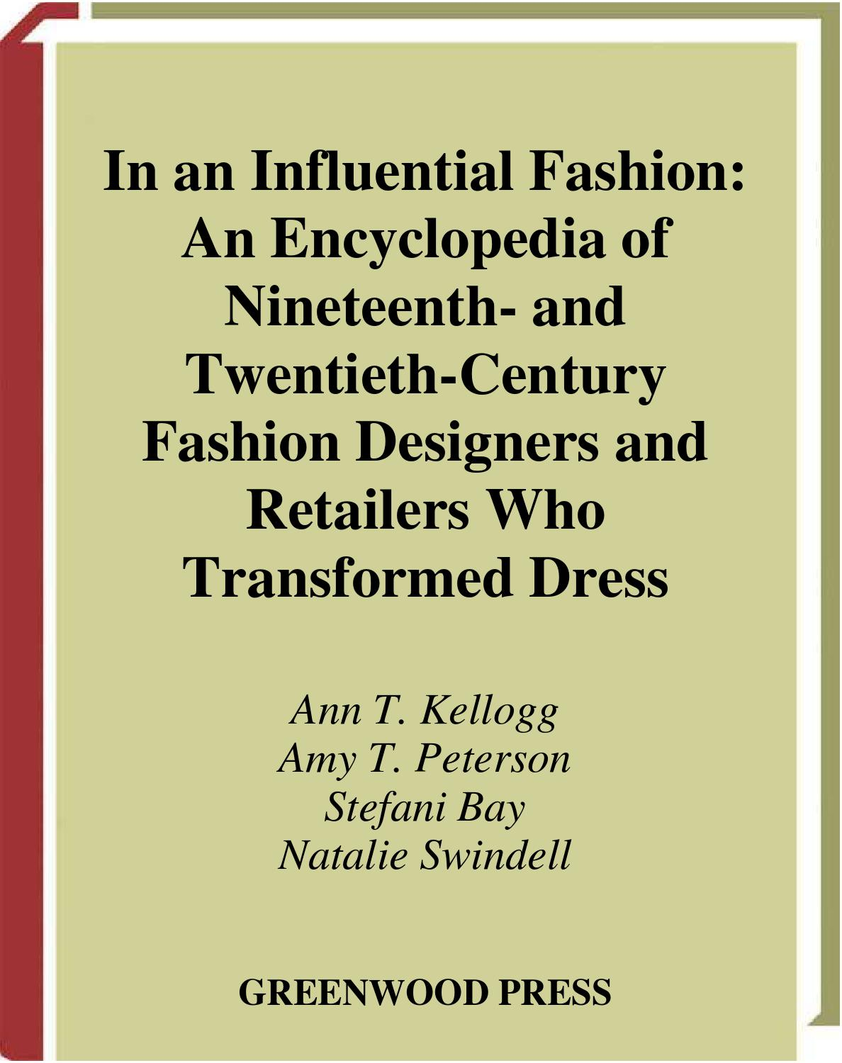 new styles authentic excellent quality Encyclopedia of 19th &20th century fashion designers & retailers ...