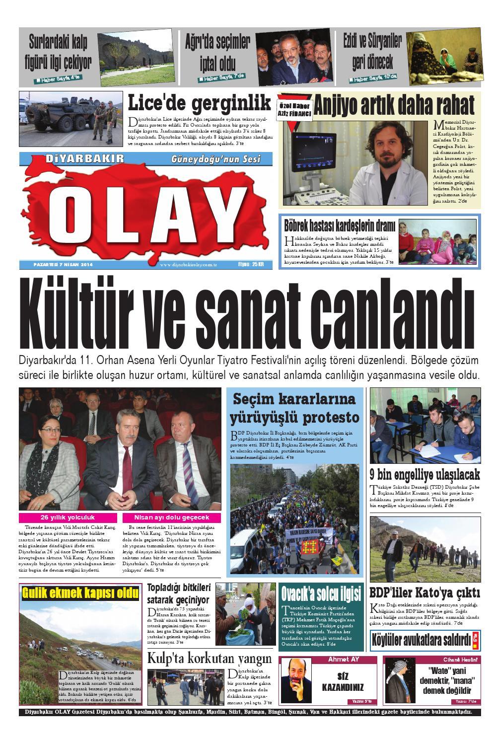 07 04 2014 Gazete Sayfalari By Diyarbakir Olaygazetesi Issuu