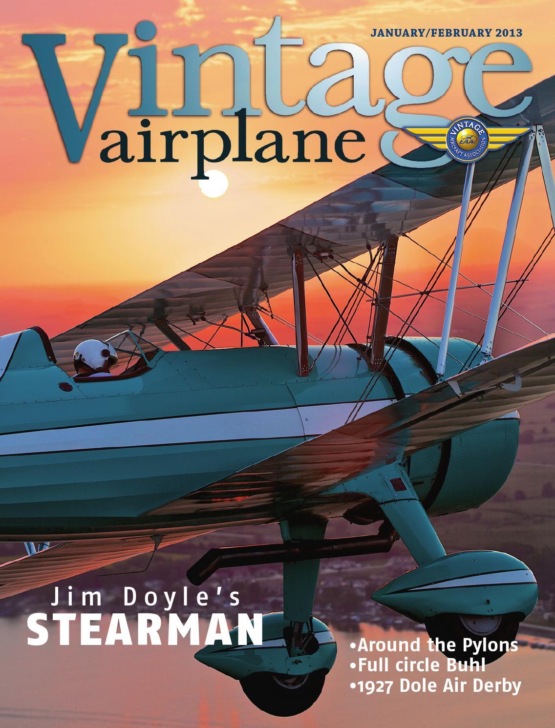 Va vol 41 no 1 jan feb 2013 by EAA Vintage Aircraft