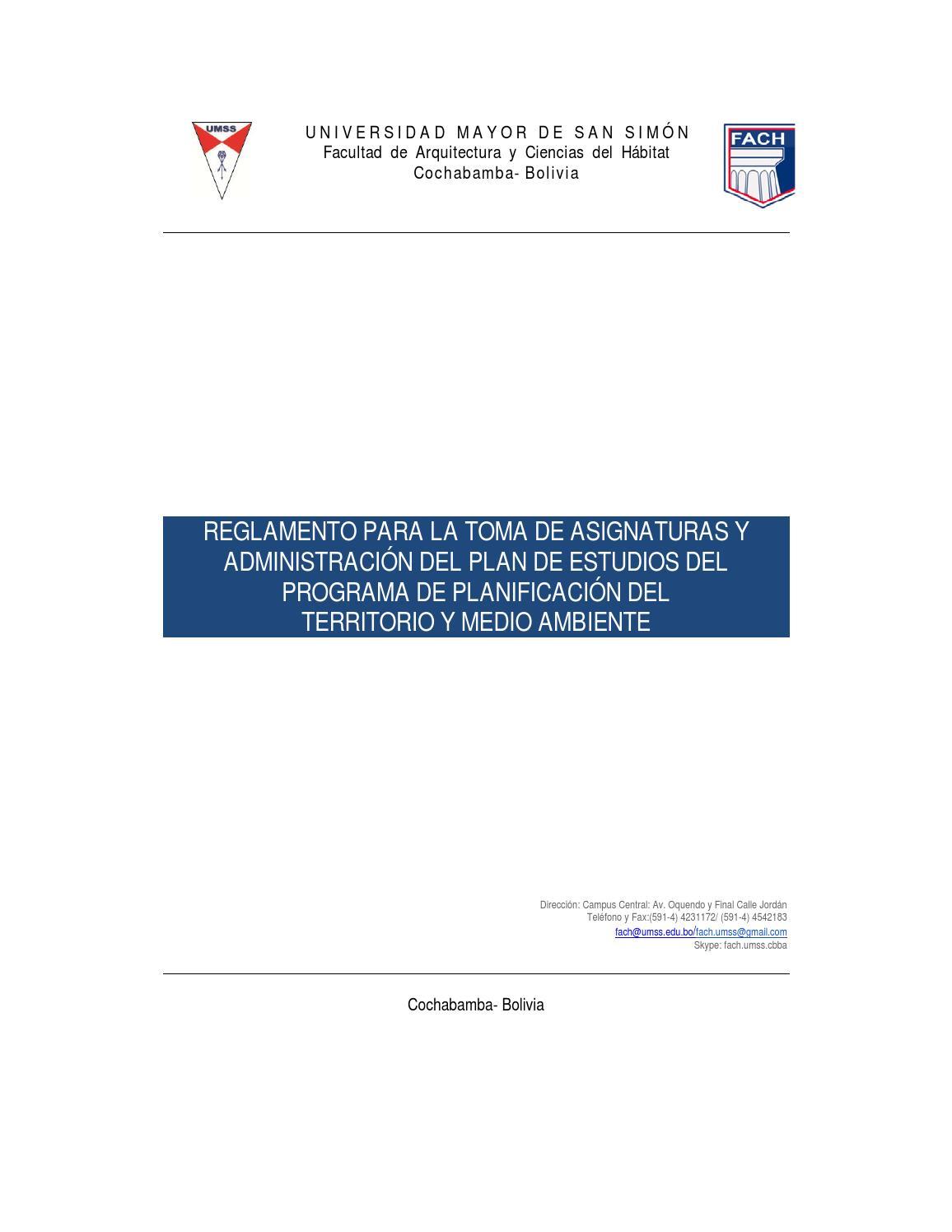 Fach reglamento administraci n del plan de estudios Asignaturas de la carrera de arquitectura