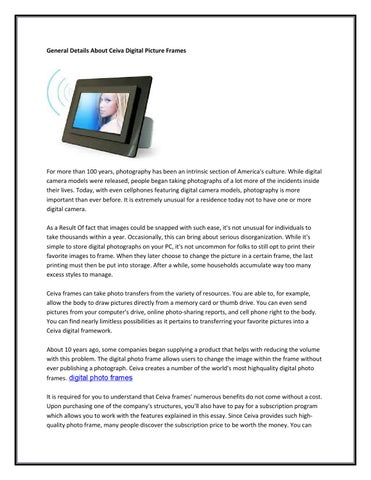 General details about ceiva digitals picture frames by neesakhan - issuu