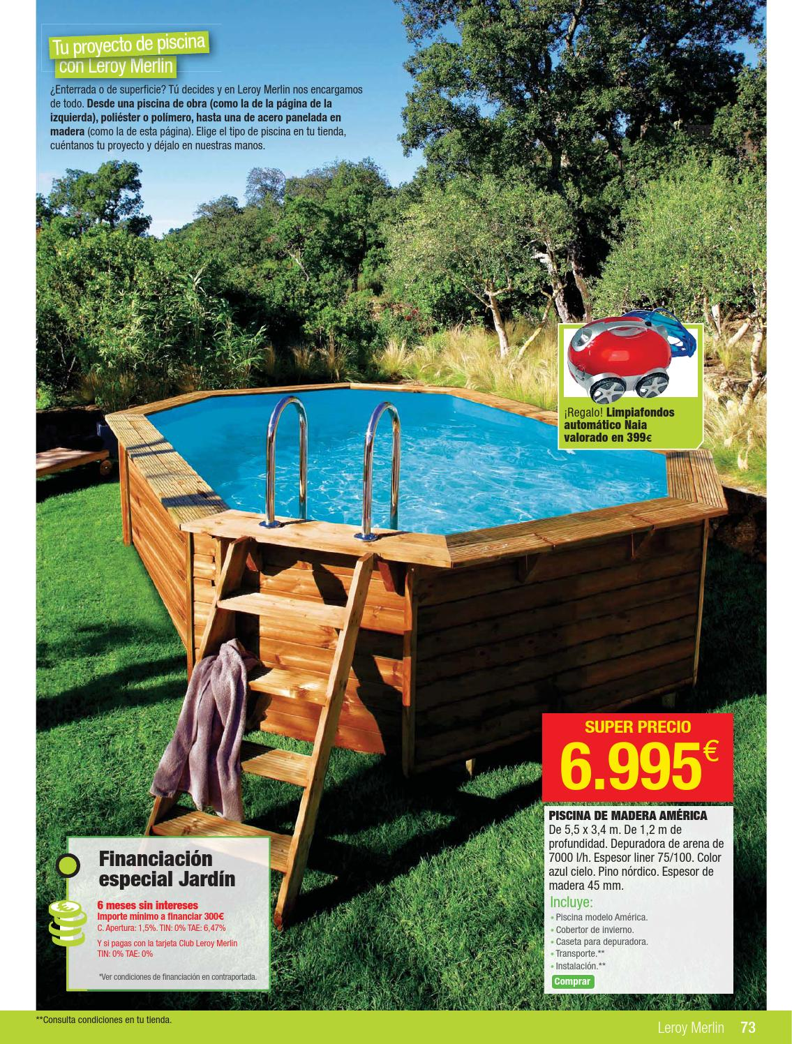 Leroymerlin folleto 2abril 28mayo2014 by for Liner piscina leroy merlin