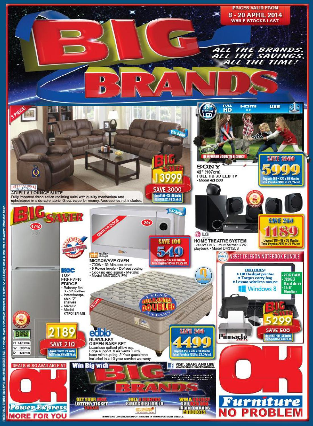 Ok Furniture Cataloague Validity 8th 20th April 2014 By Ok