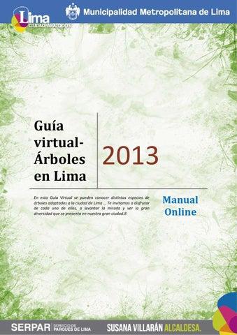 Guía virtual arboles en Lima by Serpar Parques de Lima - issuu